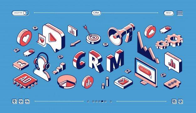 crm customer relationship management isometric web banner 33099 1591 - Услуги маркетинга в Нур-Султане